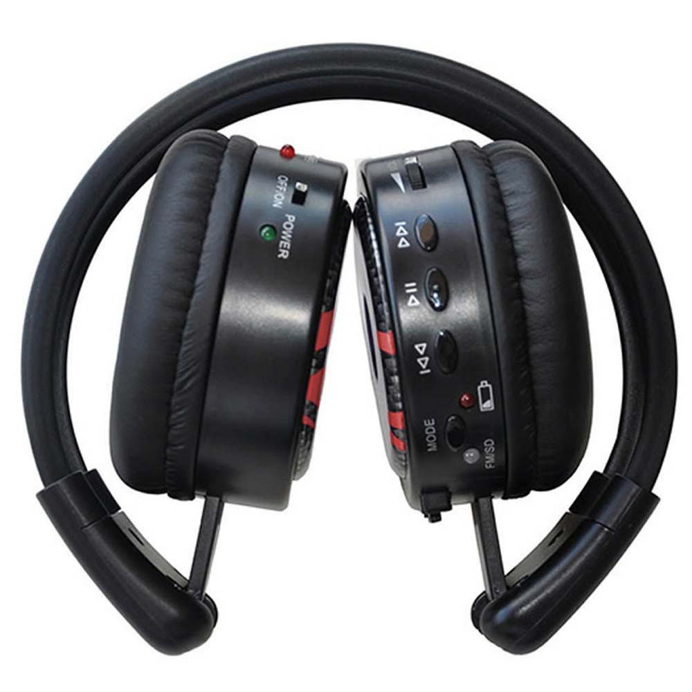 Fone Multimidia SD MP3 FM Sem Fio Preto ONB-M80P - Onbongo