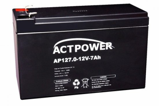 Bateria 12V 7A para Nobreak ap127 - ACT Power