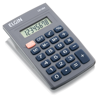 Calculadora de Bolso CB-1484 com 8 Dígitos - Elgin