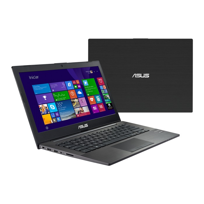 Notebook Ultrafino PU401LA-WO073P Intel Core i3 Memória 6GB HD 500GB LED 14 Windows 8 Pro Preto - Asus