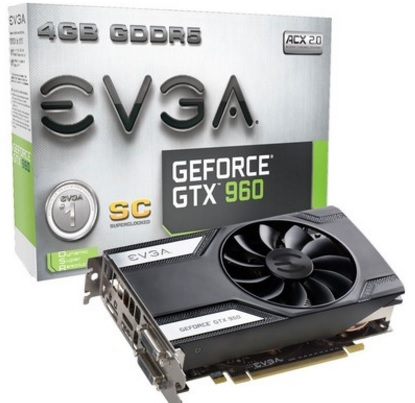 Placa de Vídeo Geforce GTX960 4GB SC Gaming DDR5 128Bits 04G-P4-3962-KR - EVGA