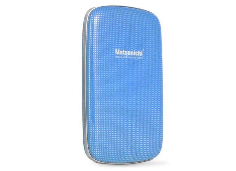 Hard Disk Externo 1TB USB 3.0 DM256-BU-1TB Azul - Matsunichi
