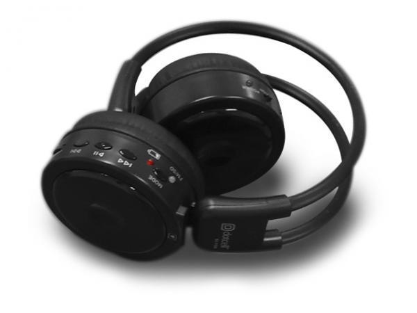 Fone de Ouvido Sem Fio Preto com Leitor de Cartoes e Radio FM DC-F200 - Dotcell
