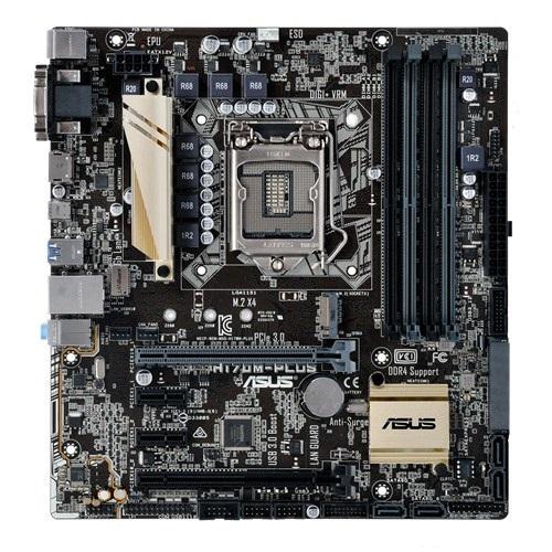 Placa Mãe LGA 1151 H170M-Plus DDR4 (S/V/R) - Asus