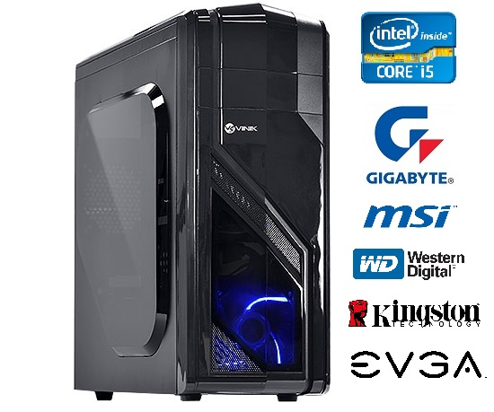 Computador Intel Core i5 4440 3.3Ghz Mem 8GB HD 1TB DVD-RW Video GTX750 1GB DDR5 Fonte 500W - Glacon