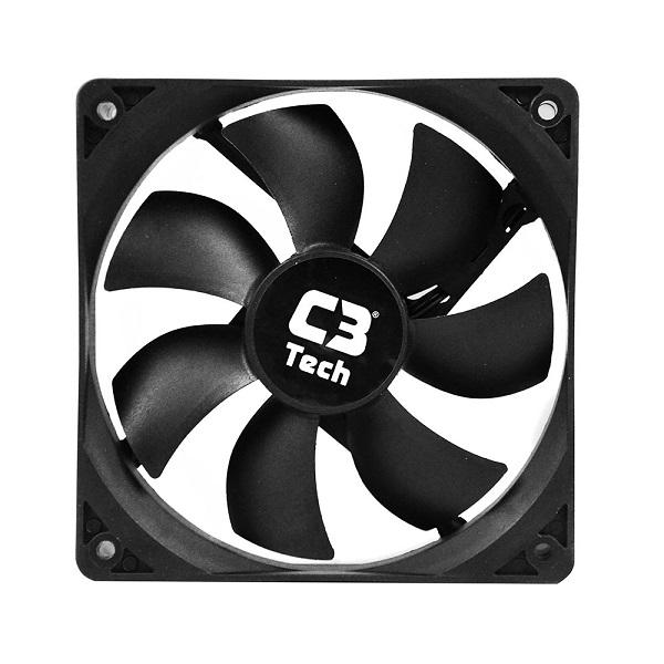 Cooler para Gabinete F7-100 BK STORM 3 Pinos 12x12x2,5 cm - C3 Tech
