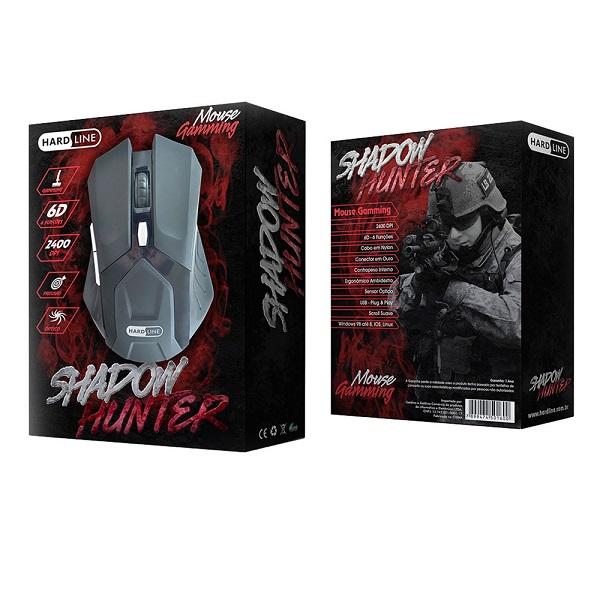 Mouse HL-SHM Shadow Hunter Gaming USB 2400 DPI - HARDLINE
