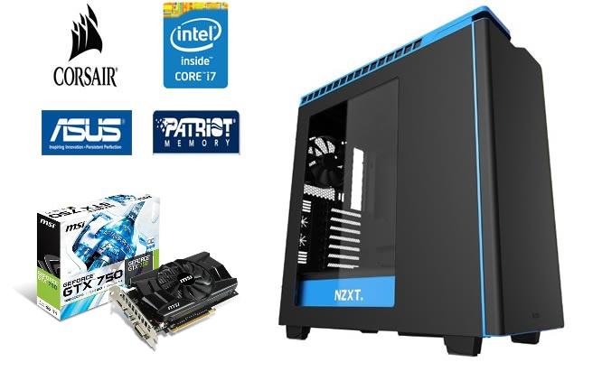 Computador Intel Core i7 4820K 3.7Ghz 10MB Cooler H90 Memória 16GB SSHD 2TB VGA GTX750 1GB Fonte 800W - Glacon