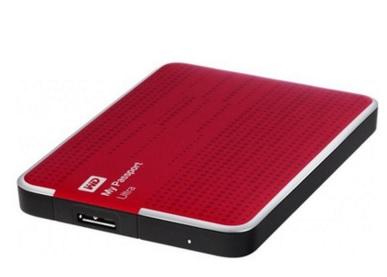 HD Externo Portátil My passaport Ultra 1TB USB 3.0 WDBZFP0010BRD Vermelho - Western Digital
