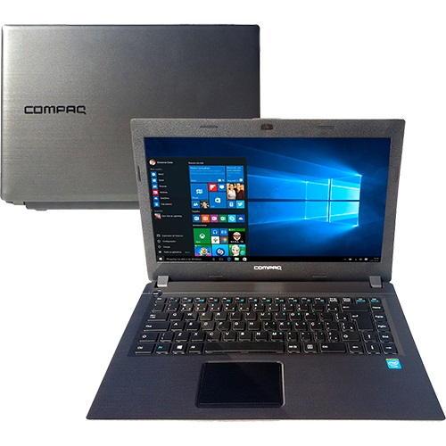 Notebook Presario CQ23 Intel Celeron Dual Core 4GB 500GB Tela LED HD 14 Windows 10 Chumbo - Compaq