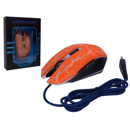 Mouse USB Gamer FC-5500 Laranja 3200DPI MO0103L - Eletro Voo