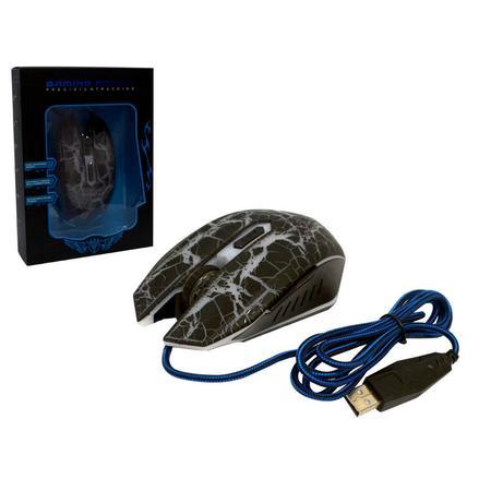 Mouse USB Gamer FC-5500 Preto 3200DPI MO0103B - Eletro Voo