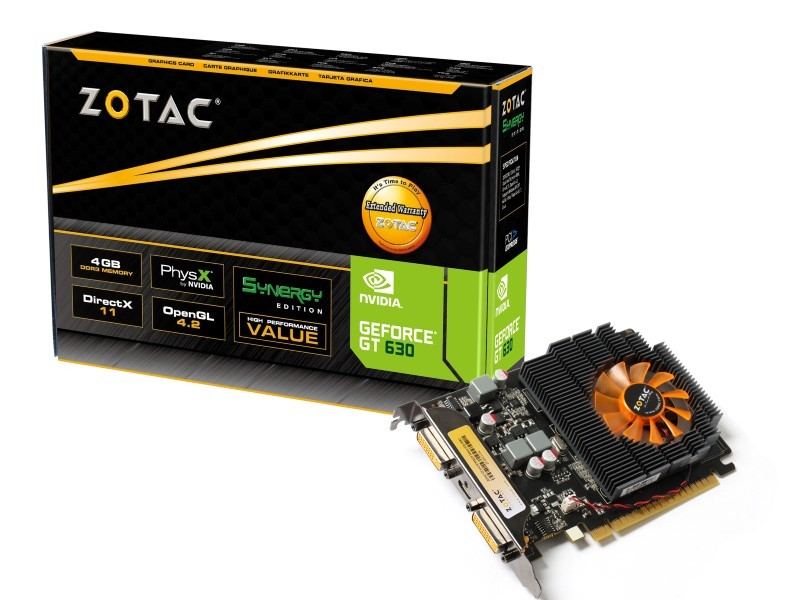 Placa de Video GeForce GT630 1GB DDR3 128Bits ZT-60412-10L - Zotac
