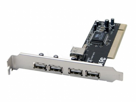 Placa PCI com 5 Portas USB 2.0 (4 Externa e 1 Interna) PC3 - -