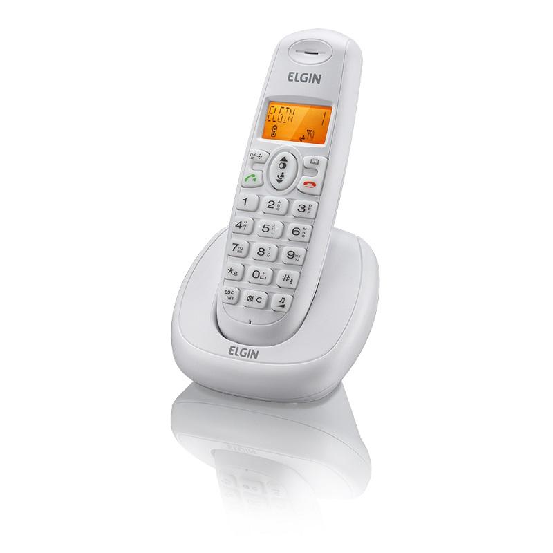Telefone Sem Fio Com Identificador e Viva Voz TSF-7001 Branco - Elgin