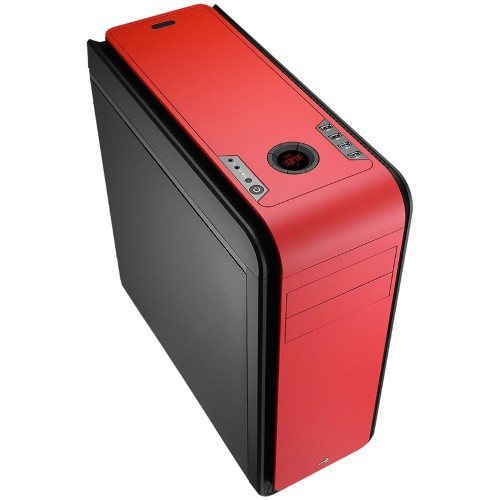 Gabinete DS 200 Window Red sem Fonte EN52582 - Aerocool