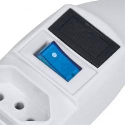 Filtro de Linha com 6 Tomadas fusível e Chave Branco BIVOLT 22024 - Vinik