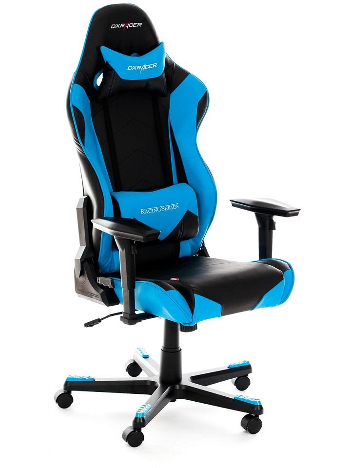 Cadeira R-Series OH/RF0/NB Preta/Azul - DXRacer