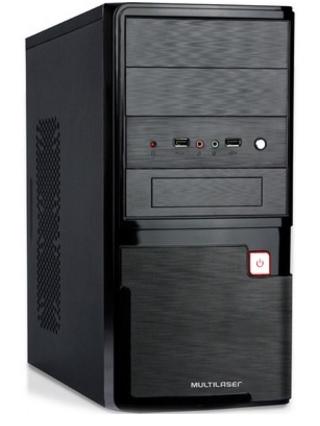 Gabinete ATX 2 Baias C/Fonte 200W Preto Escovado GA145 - Multilaser