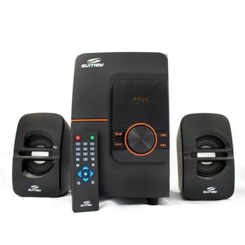 Caixa de Som Multimídia 2.1 c/USB, Cartão de Memória SD/MMC, Rádio FM e Bluetooth SM-CS3690B - Sumay