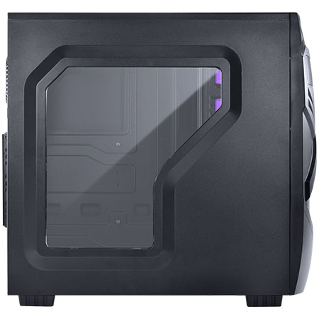 Gabinete Midtower Chacal Roxo com 1 Fan Led Frontal 24565 - PCYES