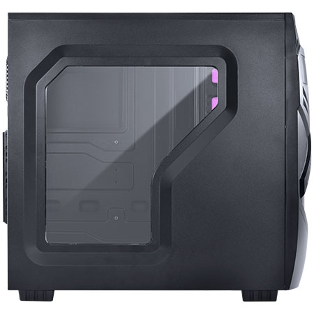 Gabinete Midtower Chacal Rosa Lateral de Acr�lico 24564 - Pcyes