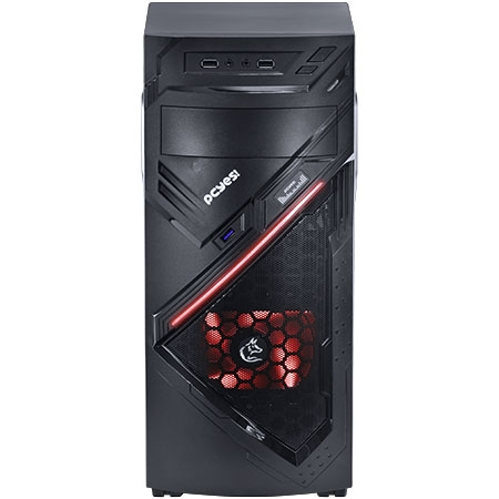 Gabinete MIDTOWER Chacal Vermelho Lateral de Acr�lico 24559 - PCYES