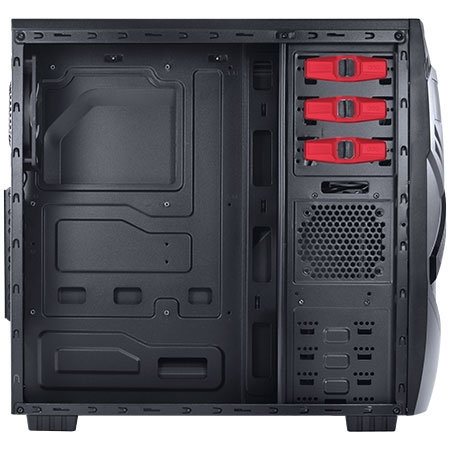 Gabinete MIDTOWER Chacal Vermelho Lateral de Acrílico 24559 - PCYES