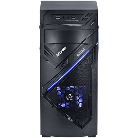 Gabinete MIDTOWER Chacal Azul Lateral Acr�lico 24558 - PCYES