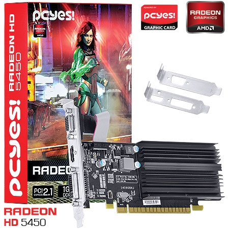 Placa de Vídeo AMD Radeon HD5450 Low Profile 1GB DDR3 64Bits PHD54506401D3  - PCYES