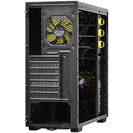 Gabinete MID TOWER Java S/Fonte Amarelo 24227 - PCYES
