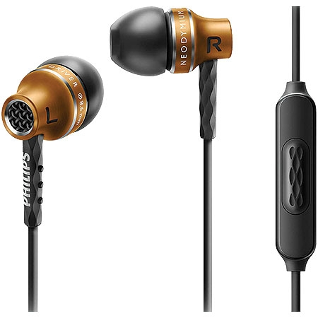 Fone de Ouvido Intra Auricular em Alumínio C/Microfone SHE9105BS/00 Dourado - Philips