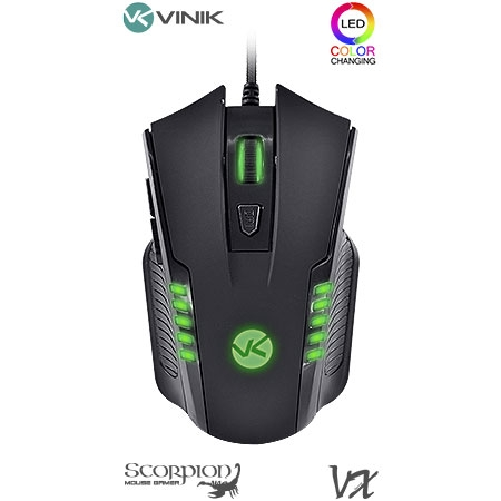 Mouse Óptico Gamer VX USB Scorpion 23374 - Vinik