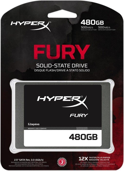 SSD HyperX Fury 480GB Sata III SHFS37A/480G - Kingston