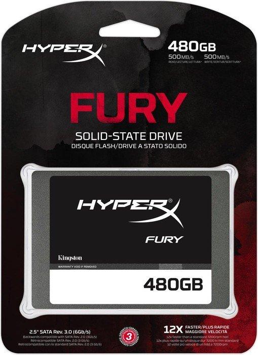 SSD HyperX Fury 480GB Sata III SHFS37A/480G - Kingston