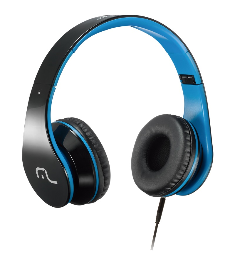 Headphone com Microfone para Celular Azul PH113 - Multilaser