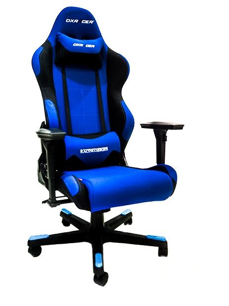 Cadeira R-Series OH/RC011/BN Azul/Preto (Em Tecido) -DXRacer