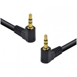 Cabo de �udio P2 3.5 x P2 3.5 Stereo 1.5 Metros 2 Conectores de 90 Graus 35SA90-15 - Vinik
