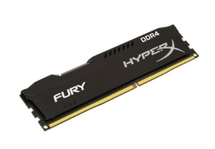 Memória HyperX Fury 4GB DDR4 2400MHz Preta HX424C15FB/4 - Kingston