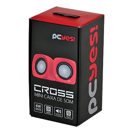 Caixa de Som Cross 6W RMA Vermelho 24304 - Pcyes