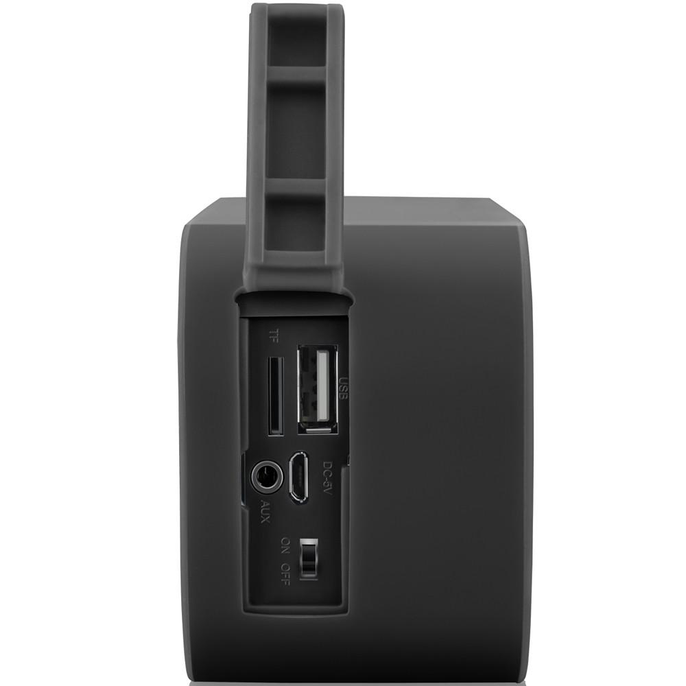 Caixa de Som Portátil Bluetooth Pulse Color Series Preta SP206 - Multilaser