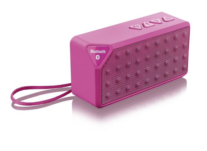 Caixa de Som Bluetooth Music 8W RMS Rosa SP175 - Multilaser