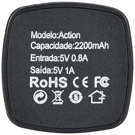 Carregador Portátil para Celular 2200mAh Action 23587 - Vinik
