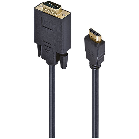 Cabo HDMI para VGA 15 Pinos Macho 30cm 24331 - Vinik