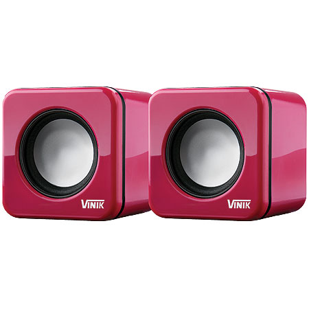 Caixa de Som 2.0 USB 6W RMS (2x 3W) VS-101 Rosa 17353 - Vinik