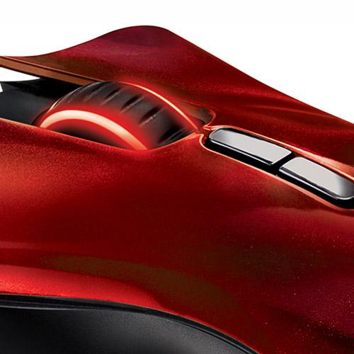 Mouse Gamer Laser Naga HEX Wraith Red 11 Botões USB RZ01-00750200-R3U1 - Razer