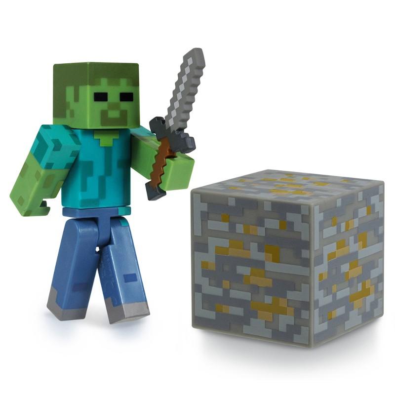 Boneco Minicraft Zombie 8cm