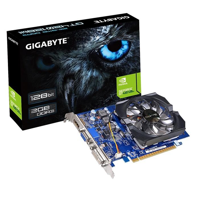 Placa de V�deo Geforce GT420 2GB DDR3 128Bits GV-N420-2GI REV 3.0 - Gigabyte