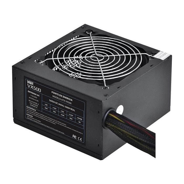 Fonte ATX 20+4 500W Real VX500 - Vinik
