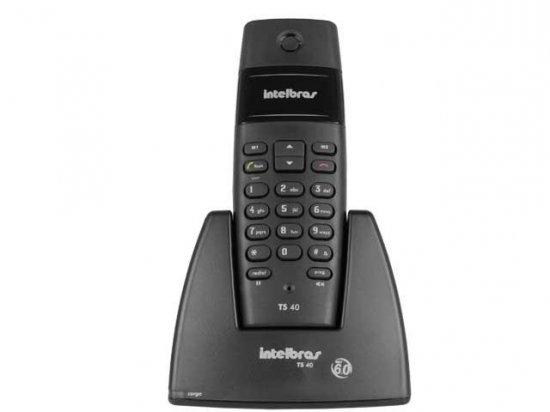 Telefone S/Fio Dect 6.0 Preto TS40 - Intelbras